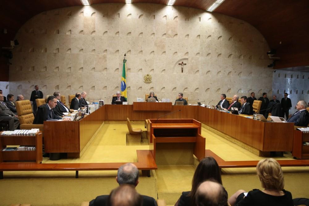 Brasília - Sessão plenária do STF de abertura do Ano Judiciário de 2017 e homenagem ao ministro Teori Zavascki (José Cruz/Agência Brasil)