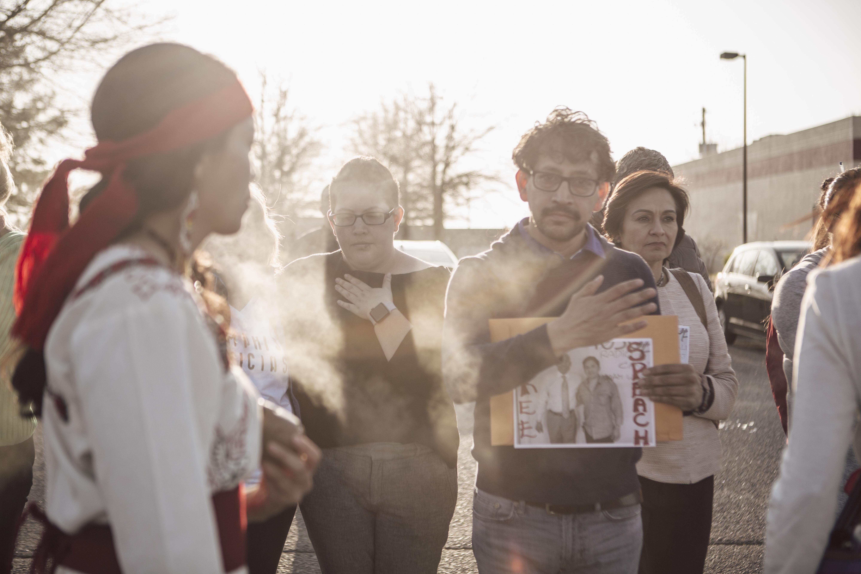 April 10, 2018 - Vigil for Manuel Duran at El Mercadito.