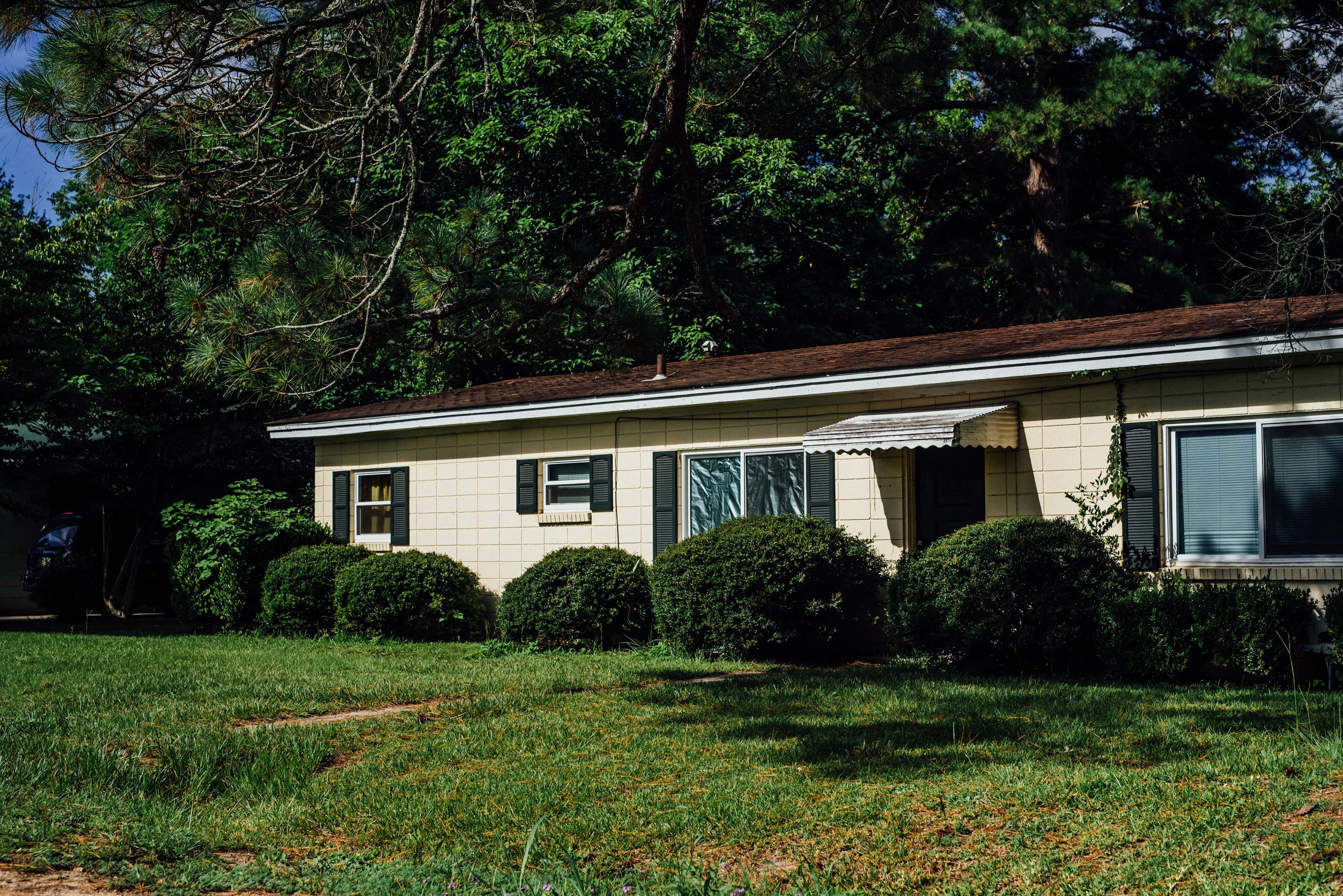 The home where Shailesh Patel was found murdered in the spring of 2000, months before the Bennett/Browning murder committed by Hercules Brown.