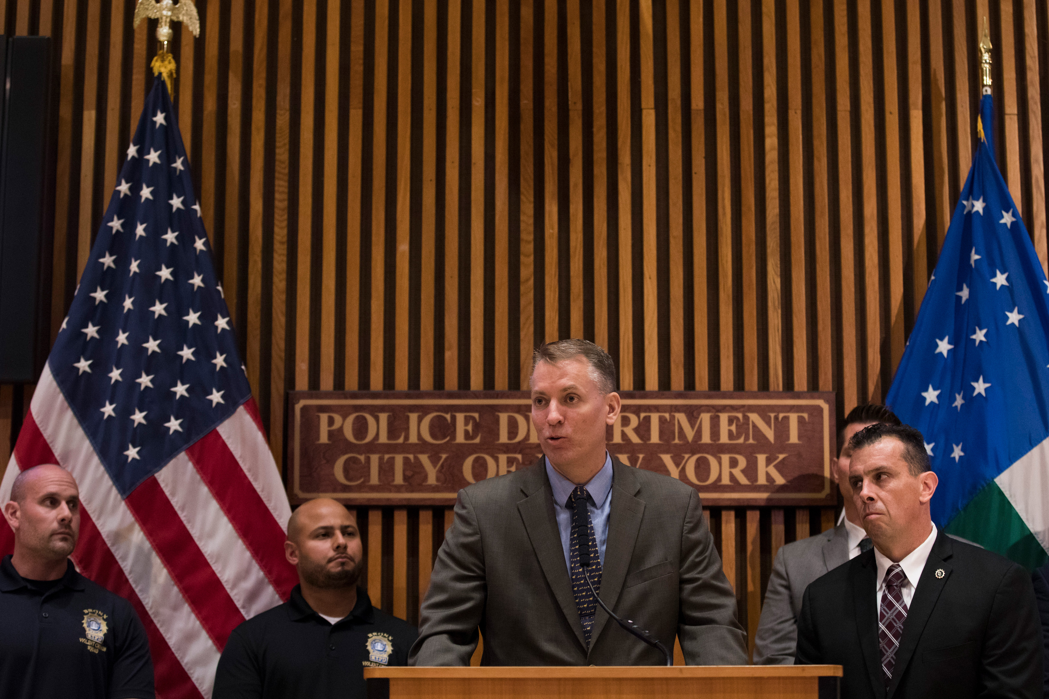 a120e876d NEW YORK, NY - JUNE 27: NYPD Chief of Detectives Dermot Shea speaks during