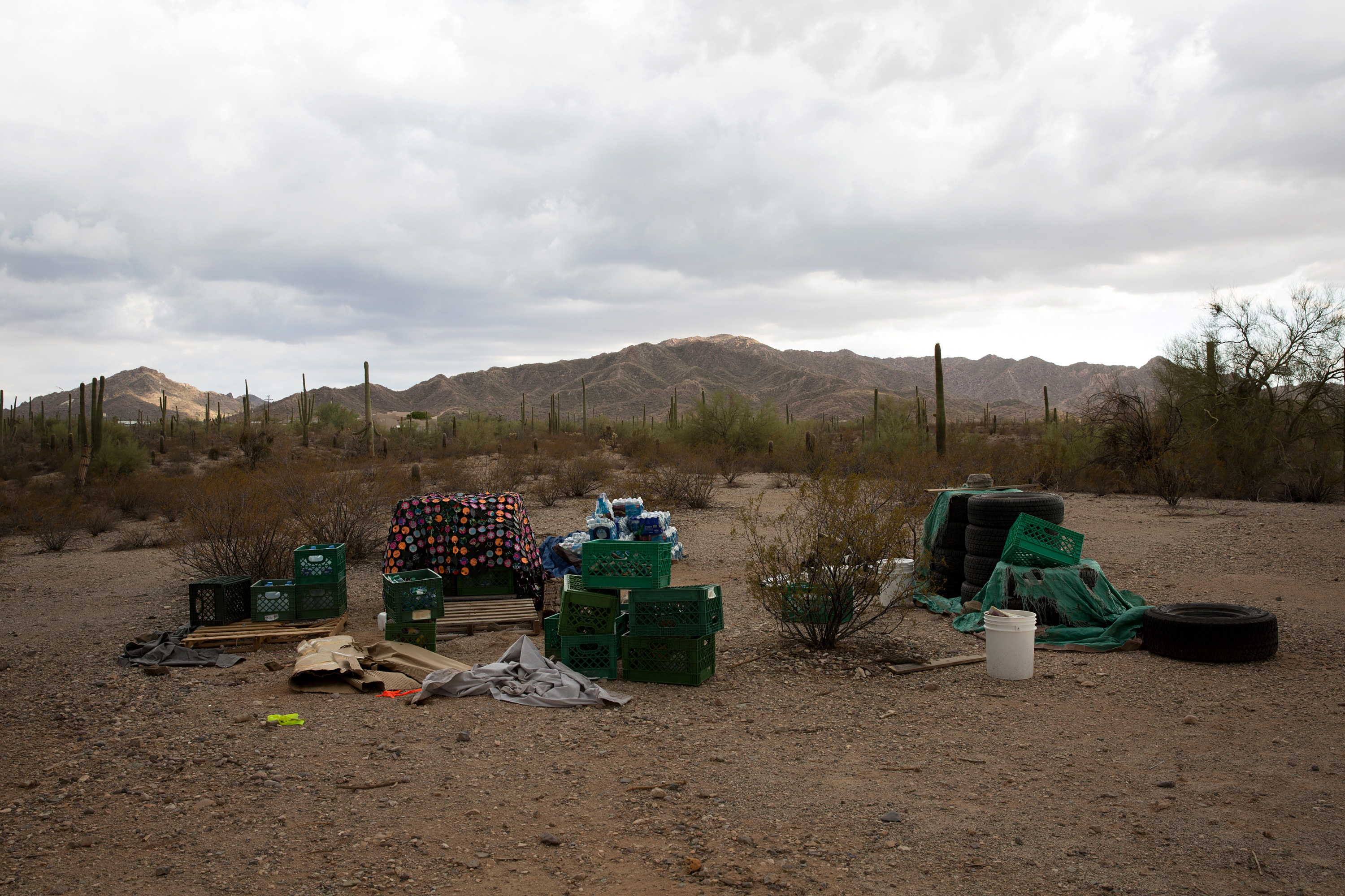 """Humanitarian aid shelter in Ajo, known to groups as """"The Barn"""" and the location where Dr. Warren was taken into custody by CBP."""