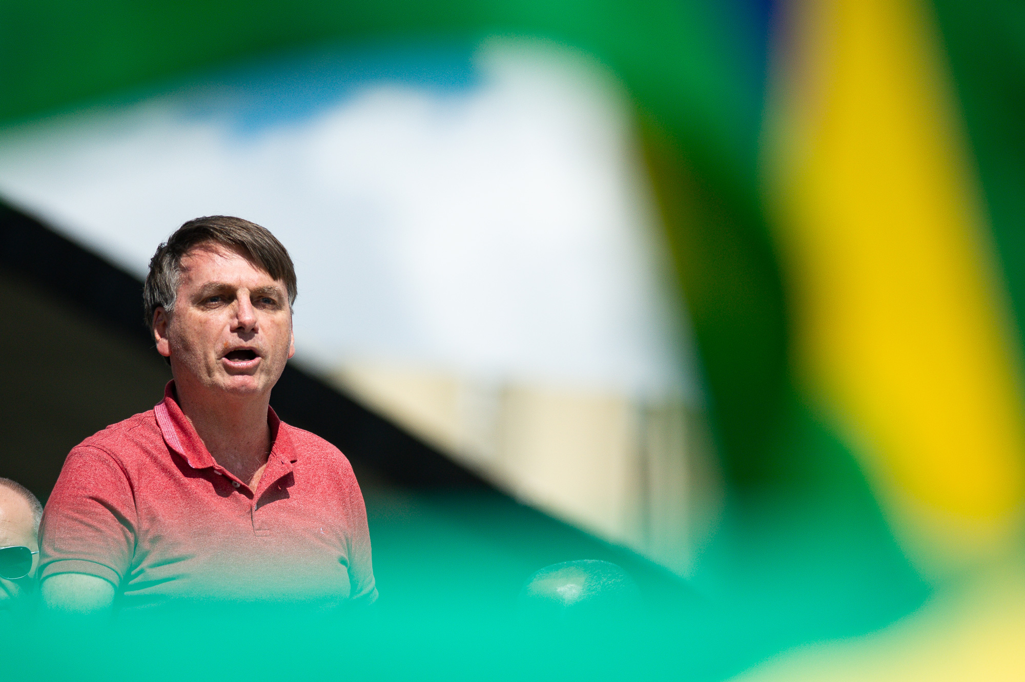 President Bolsonaro Speaks in Front of Sympathizers Amidst the Coronavirus (COVID-19) Pandemic